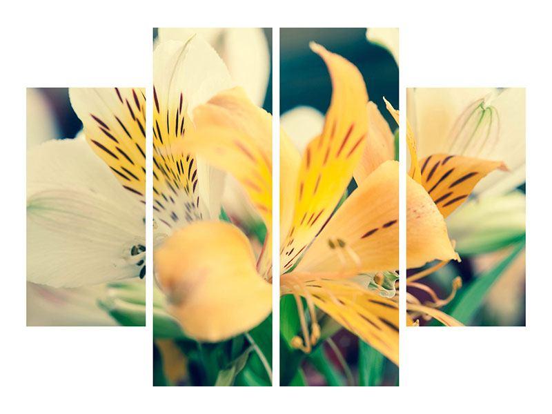 Acrylglasbild 4-teilig Tigerlilien