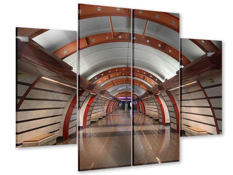 Acrylglasbild 4-teilig U-Bahn Station
