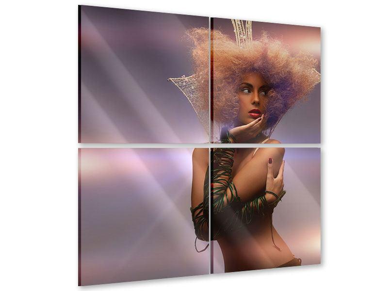 Acrylglasbild 4-teilig Die Schöne