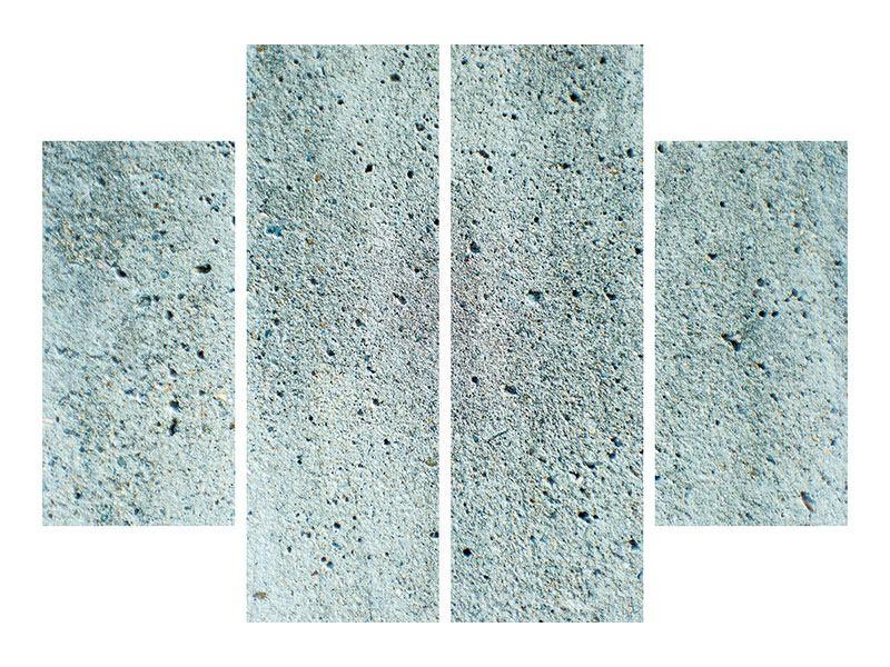 Acrylglasbild 4-teilig Beton in Grau