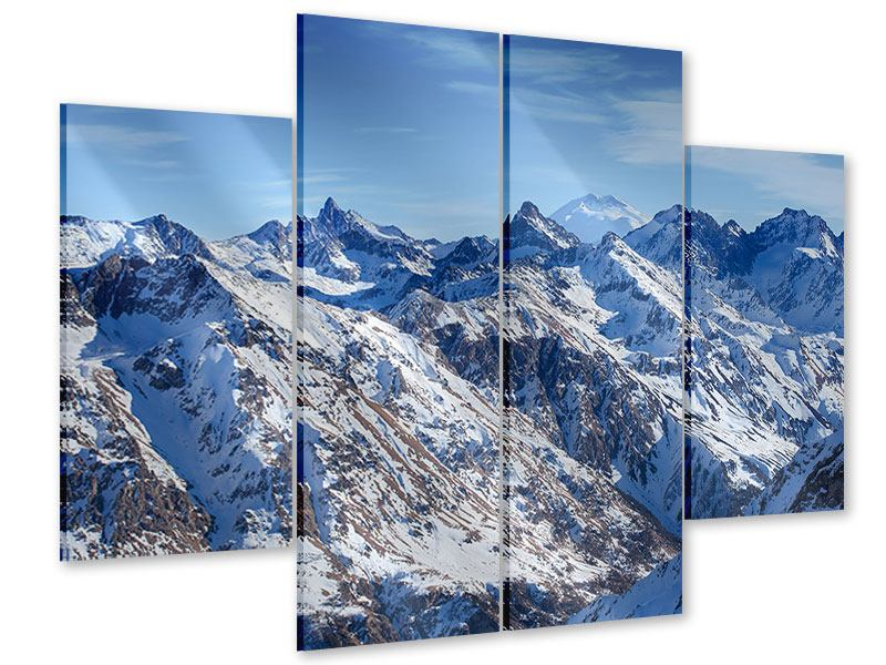 Acrylglasbild 4-teilig Gipfelspitzen