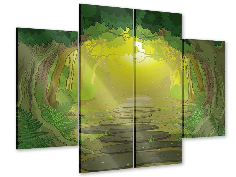 Acrylglasbild 4-teilig Der Märchenwald