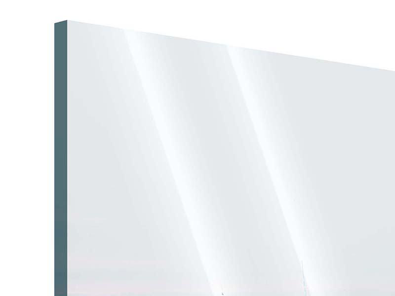 Acrylglasbild 4-teilig Skyline Manhattan in der Abenddämmerung