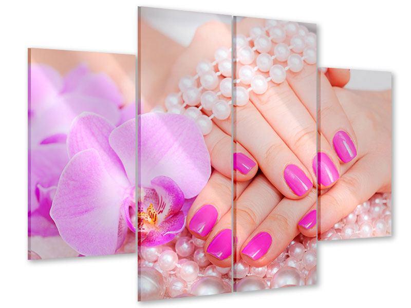 Acrylglasbild 4-teilig Manikürte Hände