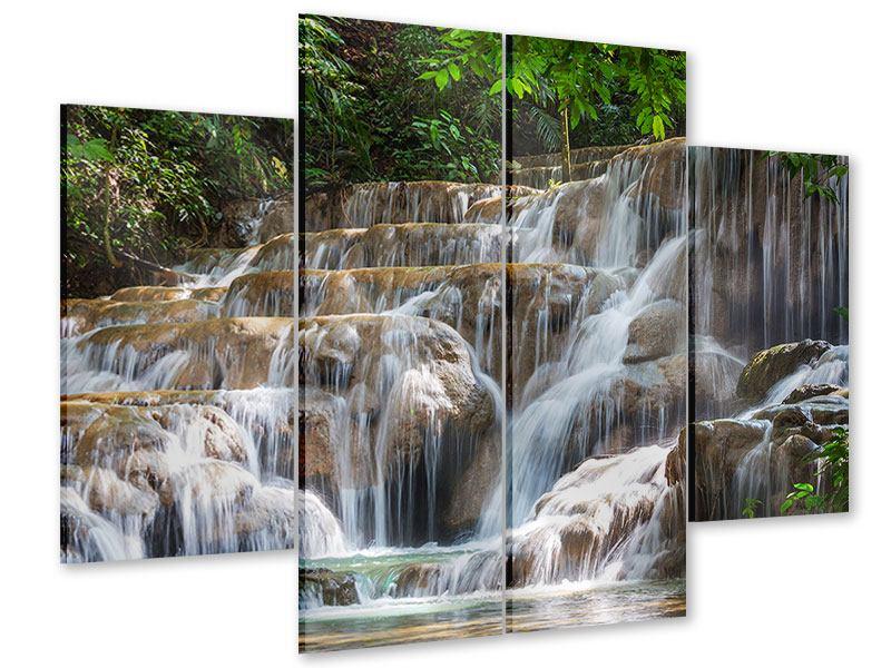 Acrylglasbild 4-teilig Mexikanischer Wasserfall