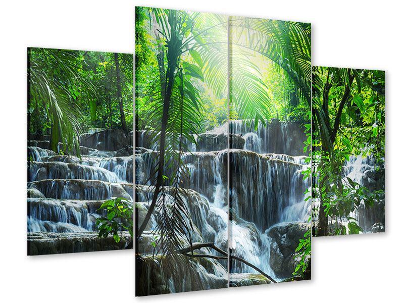 Acrylglasbild 4-teilig Wasserfall Agua Azul