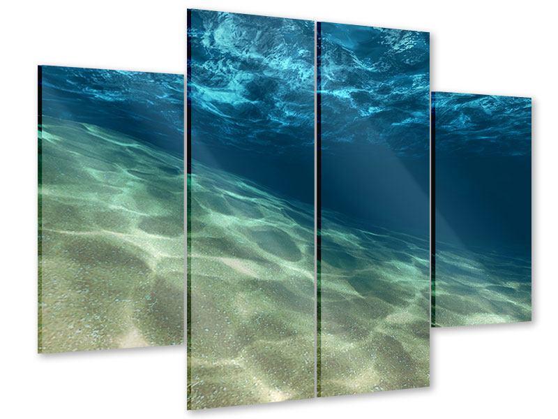 Acrylglasbild 4-teilig Unter dem Wasser