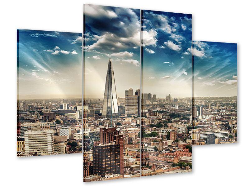 Acrylglasbild 4-teilig Skyline Über den Dächern von London