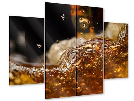 Acrylglasbild 4-teilig Cognac