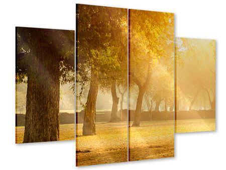 Acrylglasbild 4-teilig Romantik unter Bäumen
