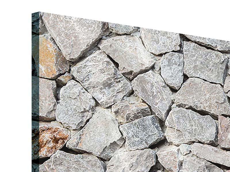 Acrylglasbild 4-teilig Grunge-Stil Mauer