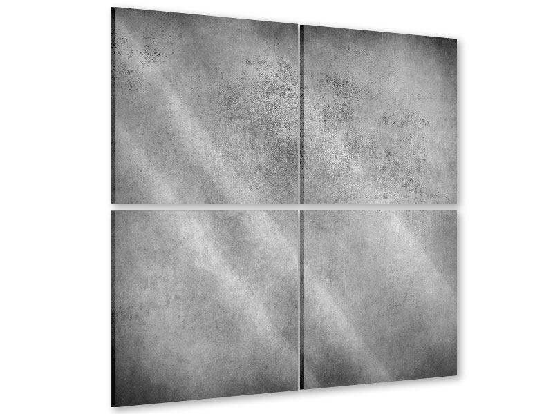 Acrylglasbild 4-teilig Graue Wandschattierungen