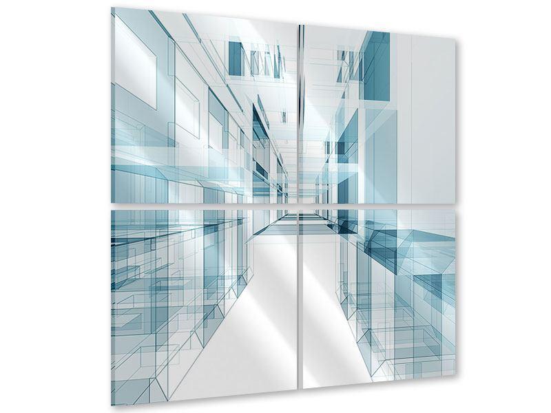 Acrylglasbild 4-teilig Raum der Räume