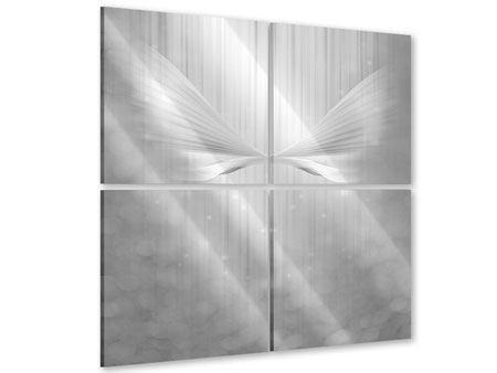 Acrylglasbild 4-teilig Engelsflügel