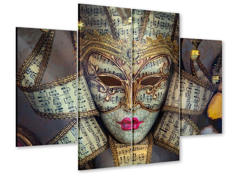 Acrylglasbild 4-teilig Venezianische Maske
