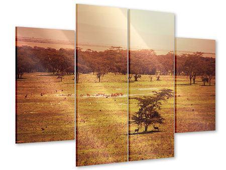 Acrylglasbild 4-teilig Malerisches Afrika