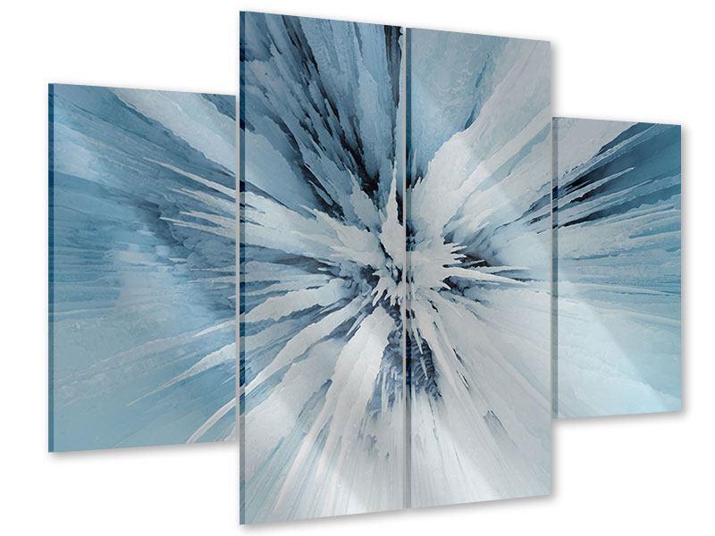 Acrylglasbild 4-teilig Eiskunst
