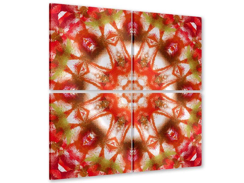 Acrylglasbild 4-teilig Geometrisches Gemälde