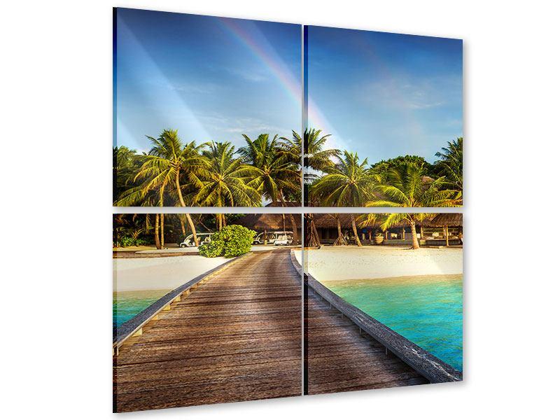 Acrylglasbild 4-teilig Inselparadies