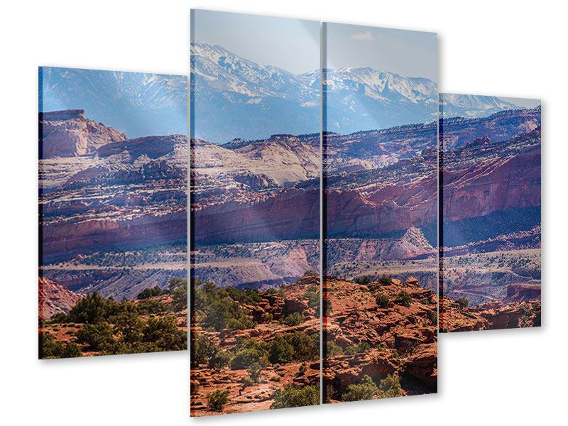 Acrylglasbild 4-teilig Bruce-Canyon-Nationalpark