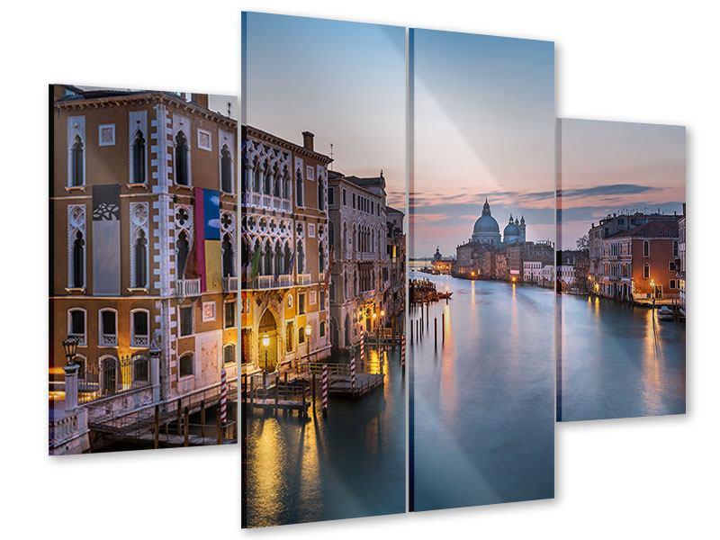 Acrylglasbild 4-teilig Romantisches Venedig