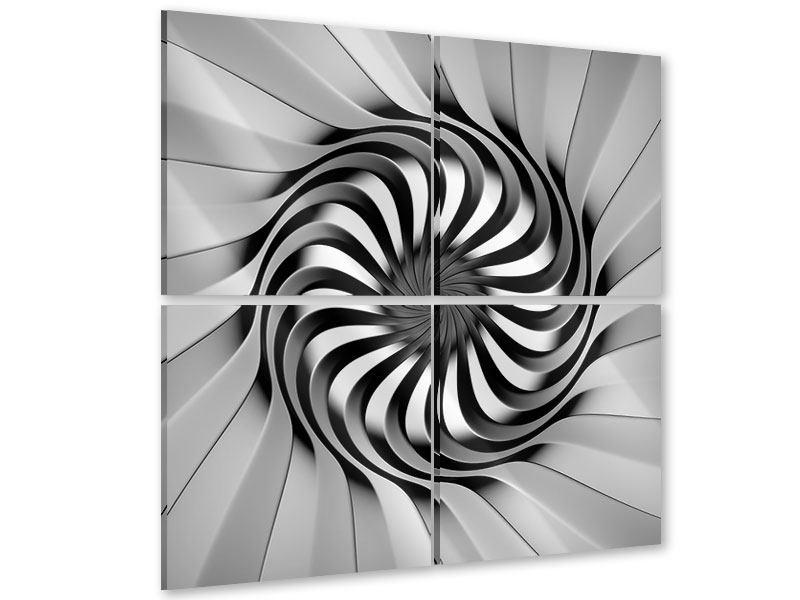 Acrylglasbild 4-teilig Abstrakte Spirale