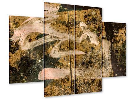 Acrylglasbild 4-teilig Writing On The Wall