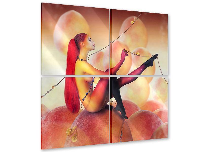 Acrylglasbild 4-teilig Die Zähmerin