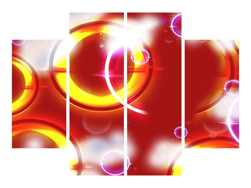 Acrylglasbild 4-teilig Abstraktes Retro