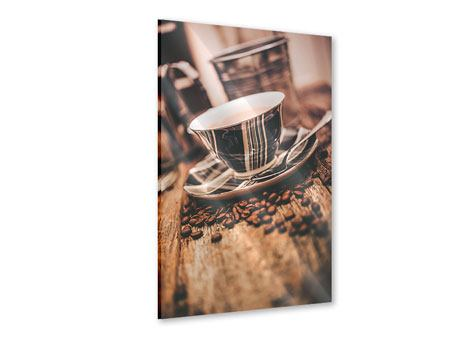 Acrylglasbild Die Tasse Kaffee