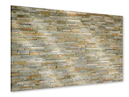 Acrylglasbild Edle Steinmauer