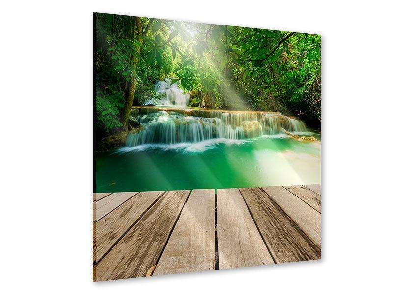 Acrylglasbild Wasserfall Thailand