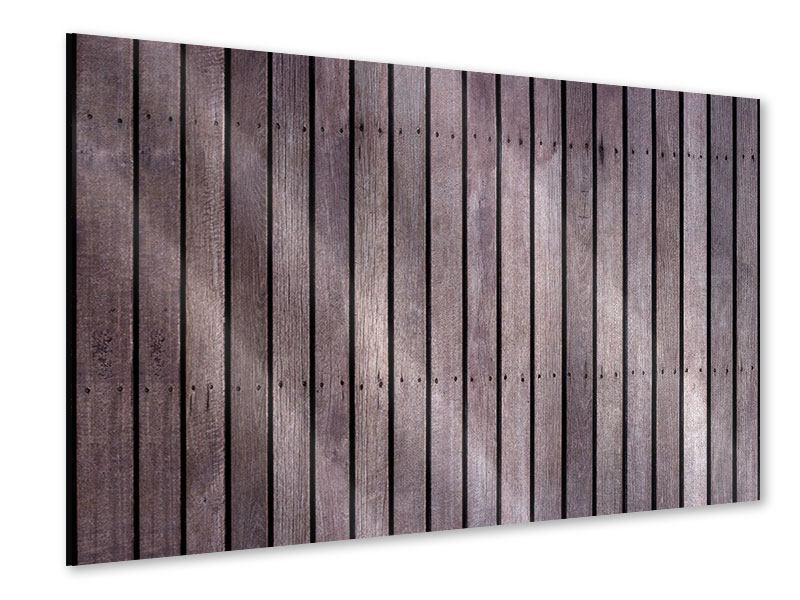 Acrylglasbild Holzwand