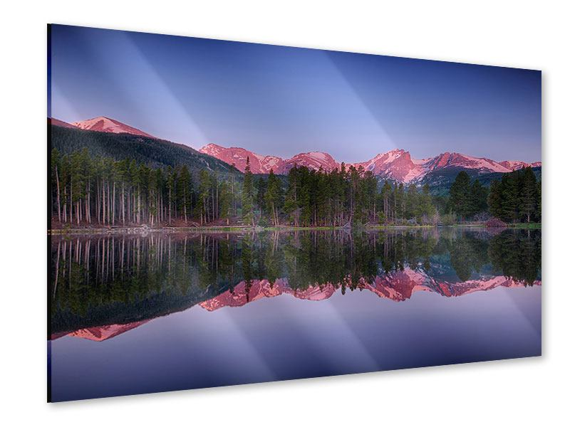 Acrylglasbild Sprague Lake-Rocky Mountains