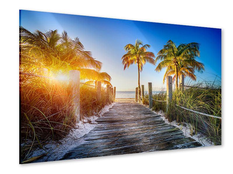 Acrylglasbild Strandweg