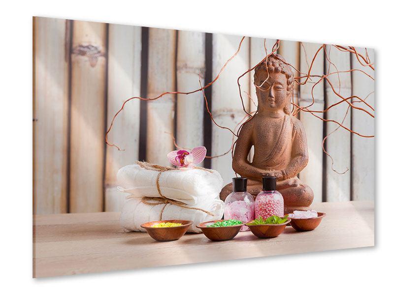Acrylglasbild Buddha + Wellness