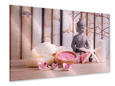 Acrylglasbild Spa + Buddha