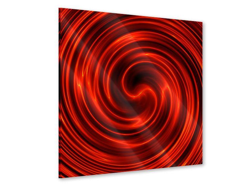 Acrylglasbild Abstrakte Rote Wirbel