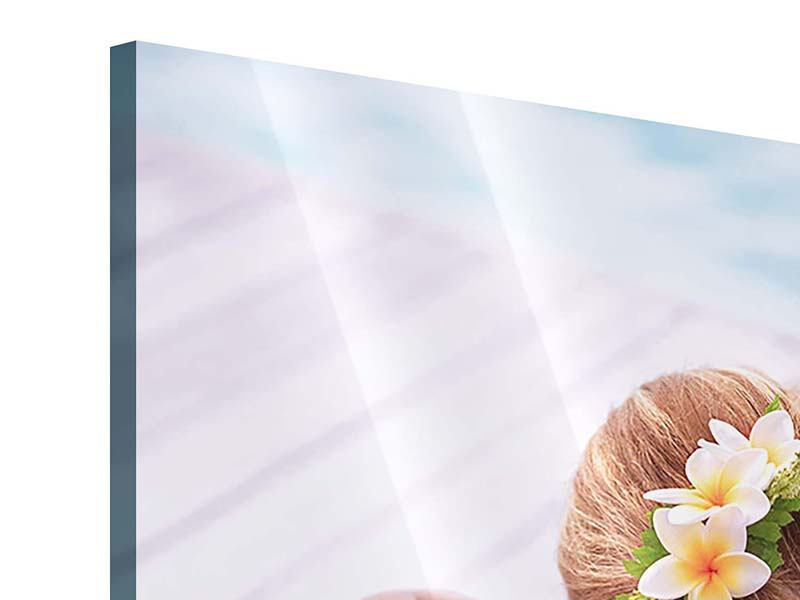 Acrylglasbild Spa-Behandlung