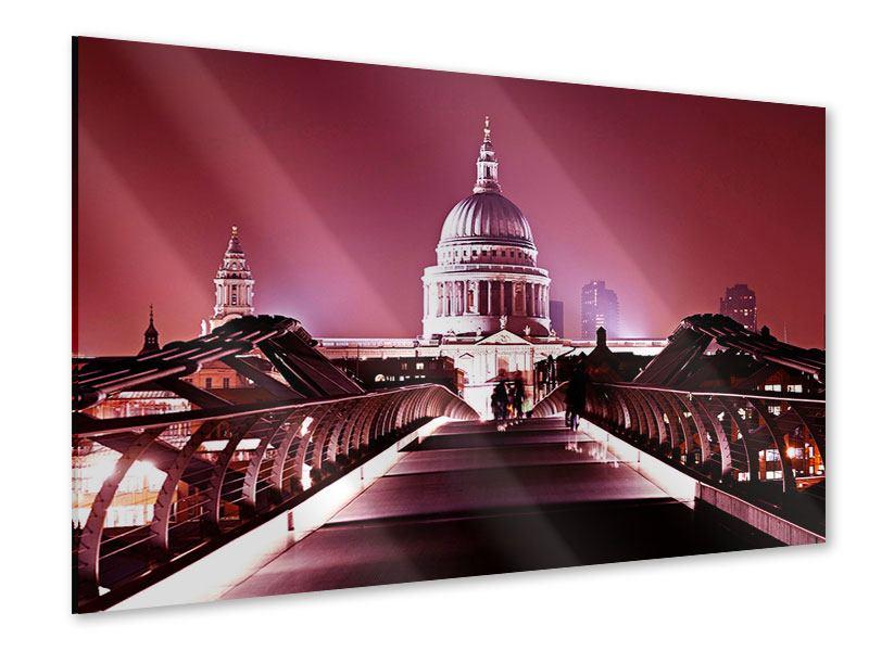 Acrylglasbild Millennium Bridge