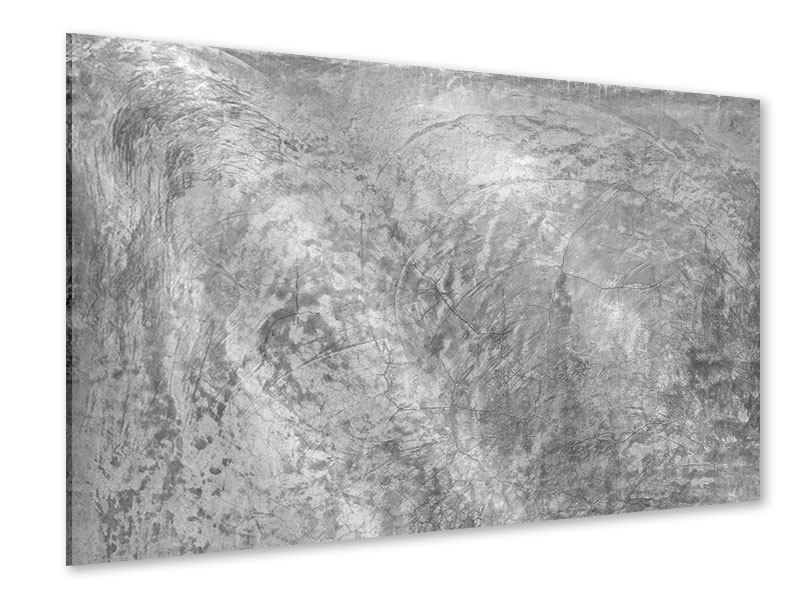 Acrylglasbild Wischtechnik in Grau