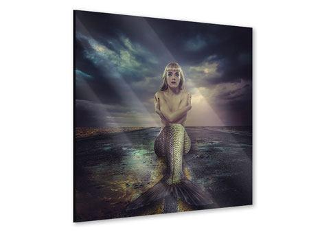 Acrylglasbild Gestrandete Meerjungfrau
