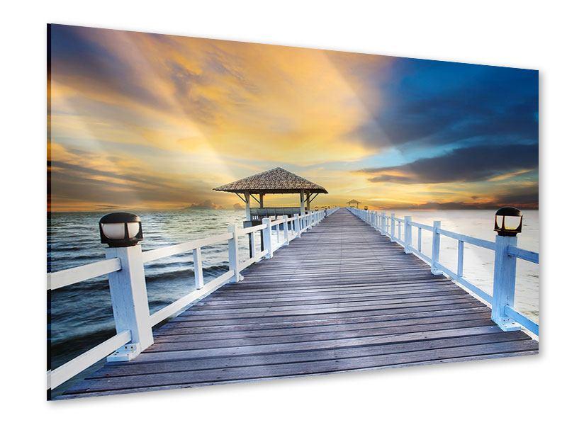 Acrylglasbild Die Brücke ins Meer