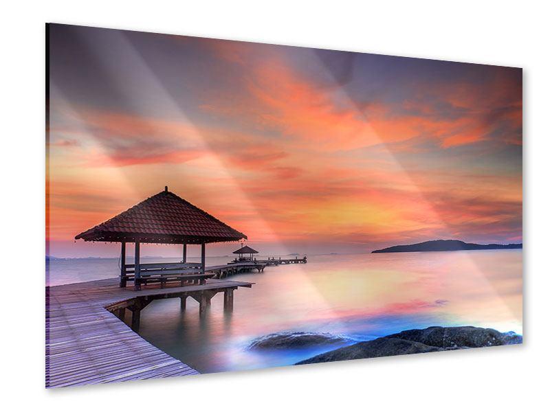 Acrylglasbild Paradiesische Brücke
