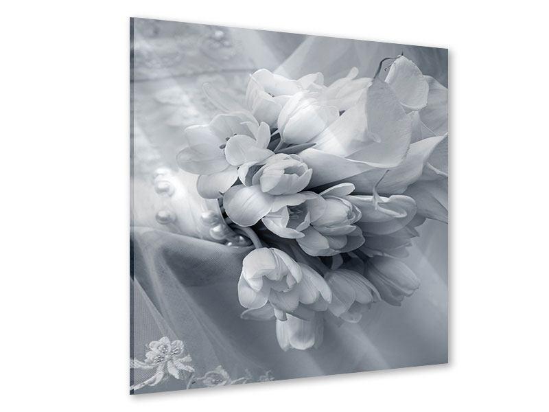 Acrylglasbild Romantisches Tulpenbukett