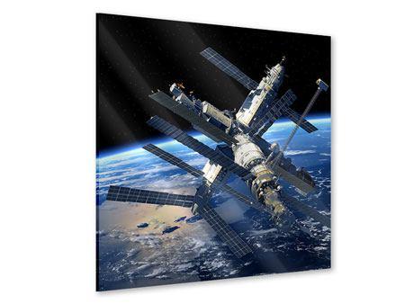 Acrylglasbild Raumstation