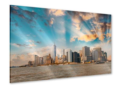 Acrylglasbild Skyline New York from the other Side