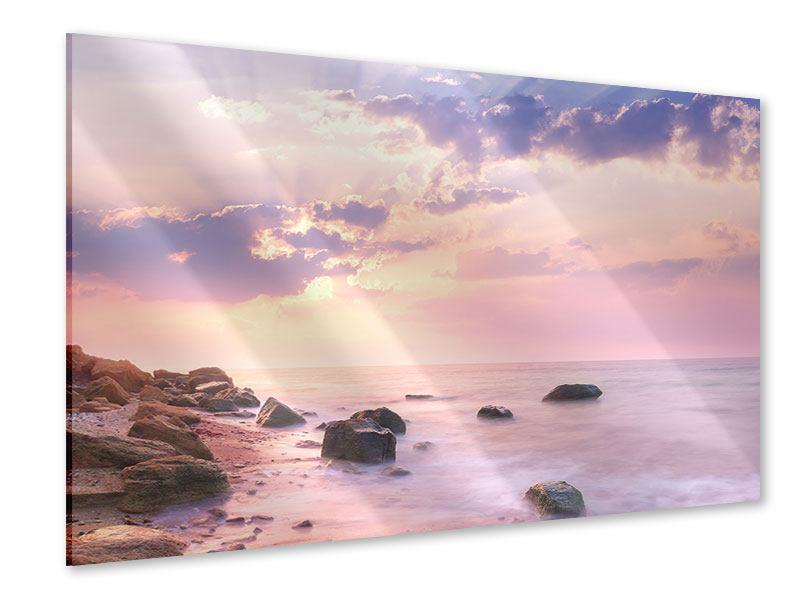 Acrylglasbild Sonnenaufgang am Meer