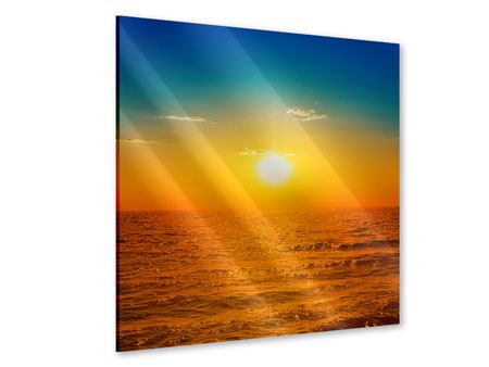 Acrylglasbild Das Meer im Sonnenuntergang