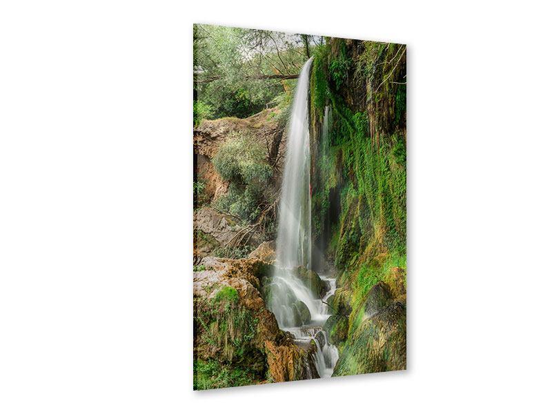 Acrylglasbild Klarer Wasserfall